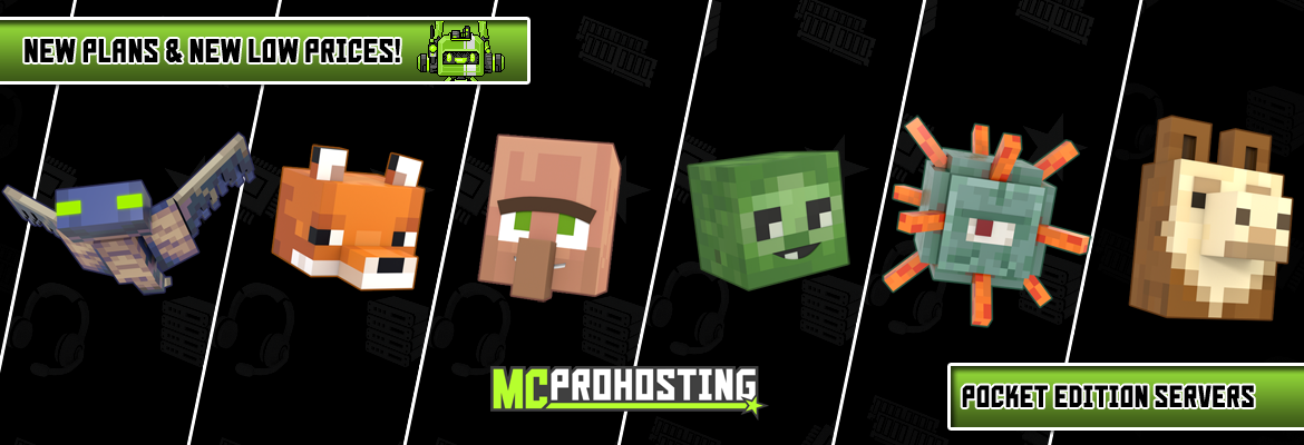 MCProHosting Minecraft Pocket Edition Plans
